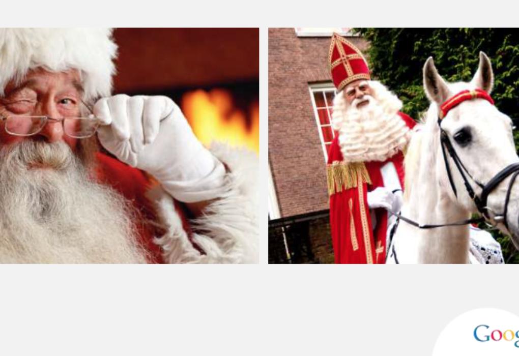 Afbeelding voor Wat zegt Google: Sinterklaas of toch de Kerstman?