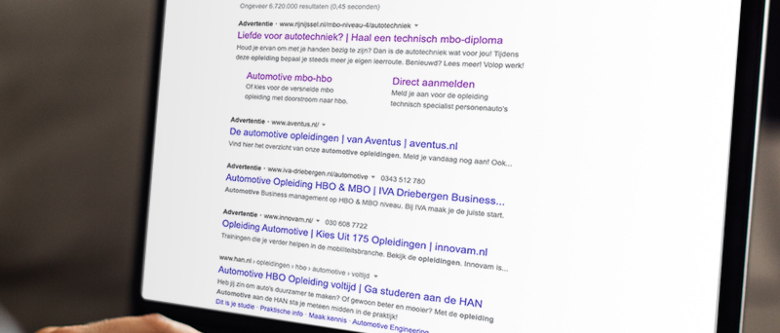 Google Ads advertentievoorbeeld