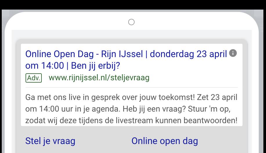Rijn IJssel online open dag tekstadvertentie 2